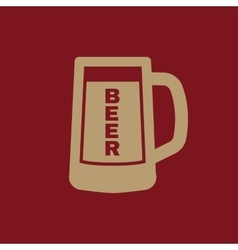 Glass of beer icon beer and pub bar symbol ui vector