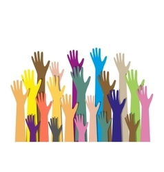 Hands different colors cultural ethnic diversity vector