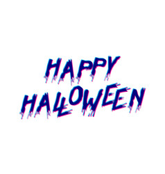 happy halloween logo vector image