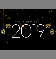 happy new year 2019 seasonal background vector image