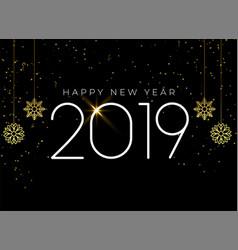Happy new year 2019 seasonal background vector