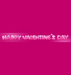 happy valentines day cute lettering banner vector image