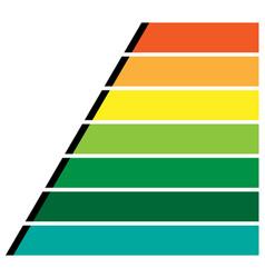 Horizontal rectangles bars infochart presentation vector
