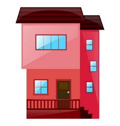 house painted in pink vector image
