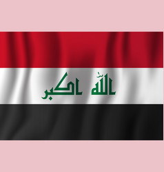 iraq realistic waving flag national country vector image
