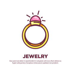 Jewelry promotional poster with elegant expensive vector