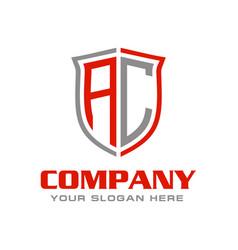 Letter ac initial logo design vector