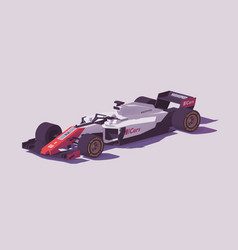Low poly formula racing car vector