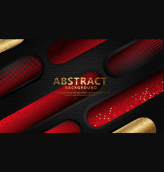 Luxurious and elegant abstract decoration overlap vector
