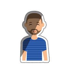 man cartoon isolated vector image