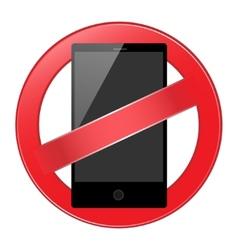 Mobile phone forbidden vector