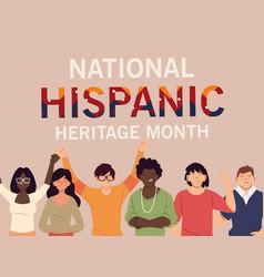 National hispanic heritage month with latin women vector