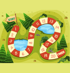nature on board game template vector image