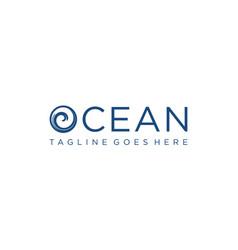Ocean wave for logo design editable vector