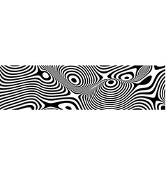 optical stripe perspective curve vector image