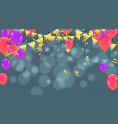Party decoration concept happy birthday greeting vector