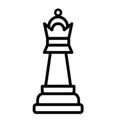 Queen chess piese icon vector