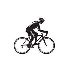 road cyclist racing woodcut vector image