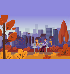 romantic date city leisure vector image
