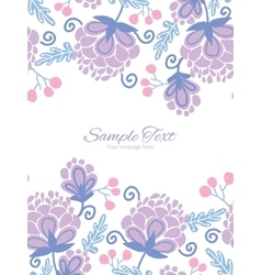 Soft purple flowers vertical double borders vector
