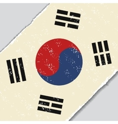 South korean grunge flag vector