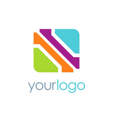 square color business logo vector image