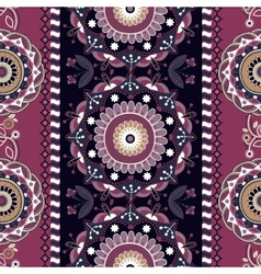 Striped seamless ornamental patter Floral ethnic vector