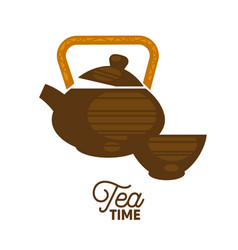 teapot and a cup vector image