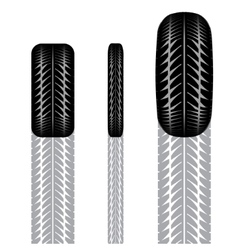 Tire track set 5 vector image