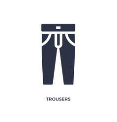 Trousers icon on white background simple element vector