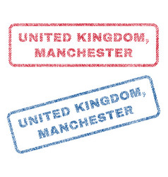United kingdom manchester textile stamps vector
