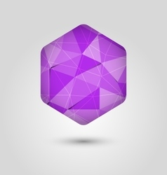 Violet polygon abstract hexagon background vector