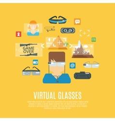 Virtual Glasses Flat vector image