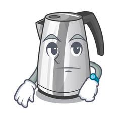 Waiting mascot cartoon household kitchen electric vector