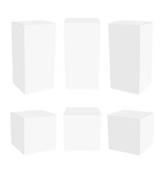 white cardboard packaging box mockup vector image