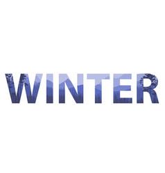 Winter words on beautiful christmas flat vector