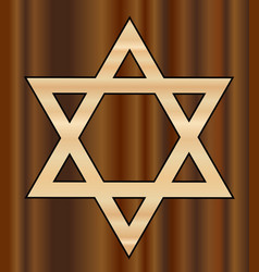 Wooden star of david vector