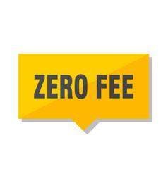 Zero fee price tag vector