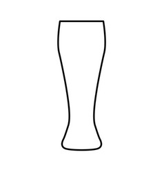 beer glass black color icon vector image vector image