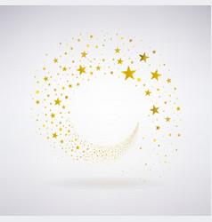 Circulation of Gold Stars vector image