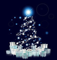 modern style blue christmas tree vector image