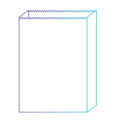 paper bag icon in degraded purple to blue color vector image vector image