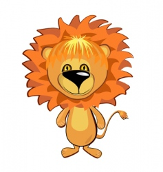 young lion vector image vector image