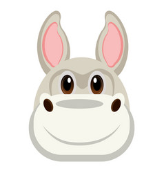 avatar of a donkey vector image vector image