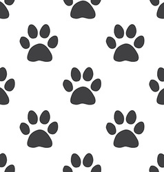 cat footprint seamless pattern vector image vector image