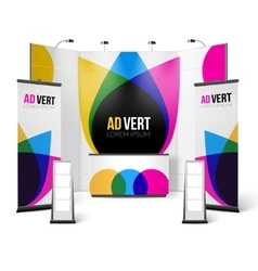 Exhibition Stand Color Design vector image vector image