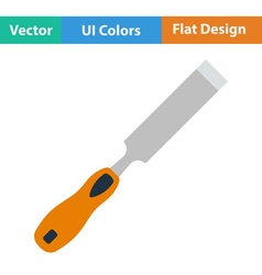 Flat design icon of chisel vector image