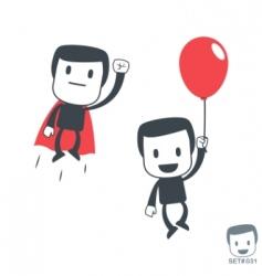 superhero icon man set031 vector image