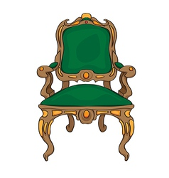baroque chair vector image