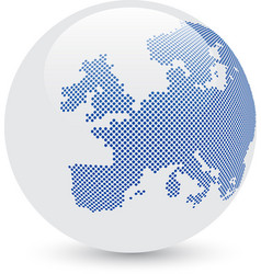 Blue and white abstract globe vector